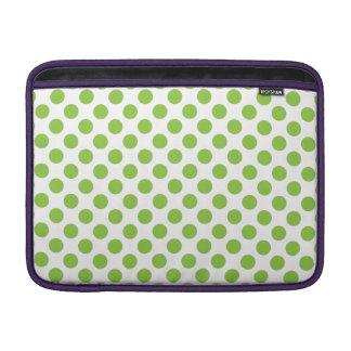 Yellow Green Polka Dots Sleeve For MacBook Air