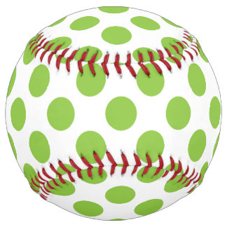 Yellow Green Polka Dots Softball