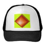 Yellow green pyramid mesh hats
