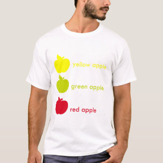 yellow green red apple T-Shirt
