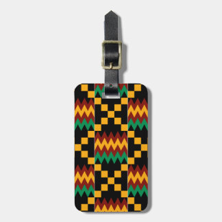 Yellow, Green, Red, Black Kente Cloth Bag Tag