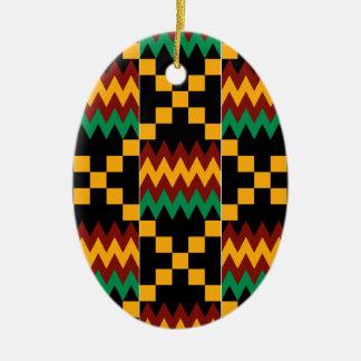 Yellow, Green, Red, Black Kente Cloth Ornaments