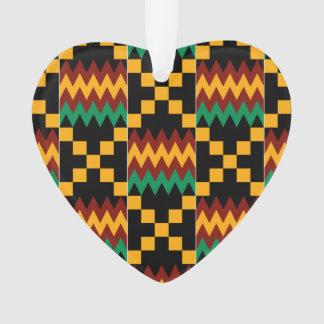 Yellow, Green, Red, Black Kente Cloth Ornament