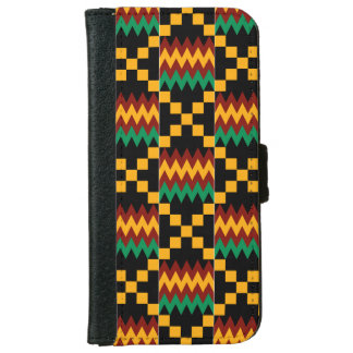 Yellow, Green, Red, Black Kente Cloth iPhone 6 Wallet Case