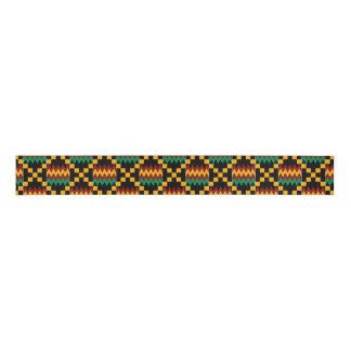 Yellow, Green, Red, Black Kente Grosgrain Ribbon