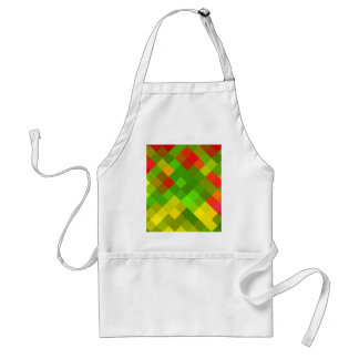 Yellow Green Red Patterns Geometric Designs Color Adult Apron