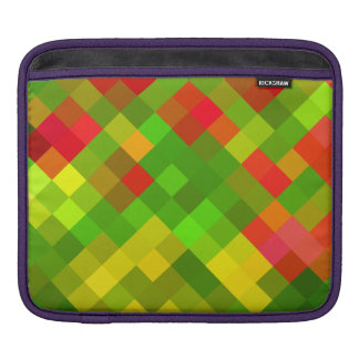 Yellow Green Red Patterns Geometric Designs Color iPad Sleeve