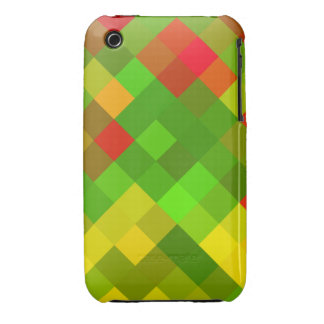Yellow Green Red Patterns Geometric Designs Color iPhone 3 Cases