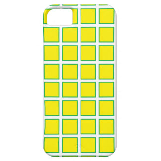 Yellow Green Squares iPhone SE/5/5s Case