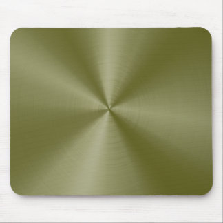 Yellow-Green Stainless Steel Mouse Pad