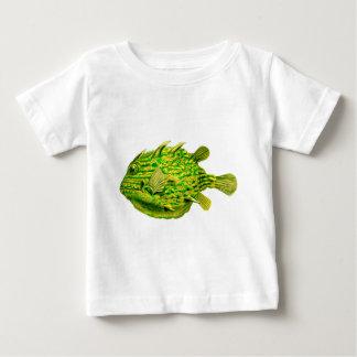 Yellow Green Striped Cowfish Baby T-Shirt