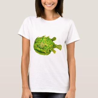 Yellow Green Striped Cowfish T-Shirt
