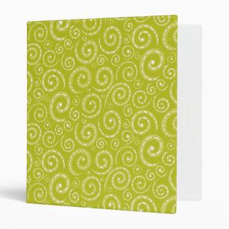Yellow Green Swirls Vinyl Binders
