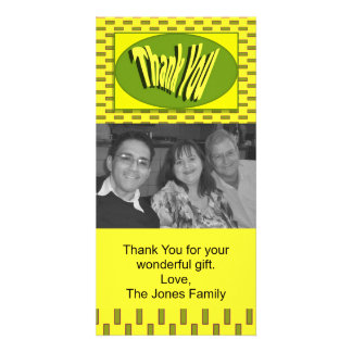 yellow green thank you card