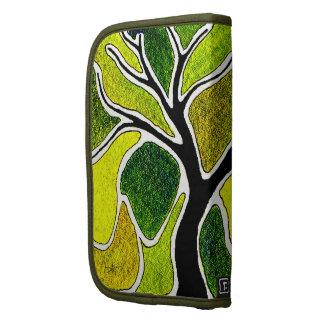 Yellow Green Tree Art Card Folio Planners