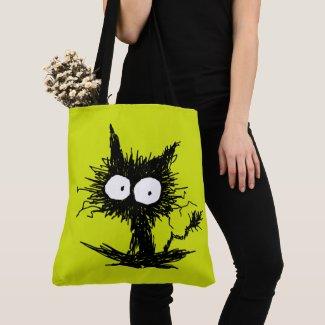 Yellow Green Unkempt Kitten GabiGabi Crossbody Bag