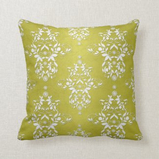 Victorian Retro Floral Damask Pillows