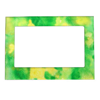 Yellow Green Watercolor Magnetic Frame