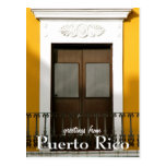 Yellow, Greetings from Puerto Rico Postcards
