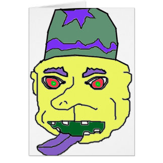 Yellow Gremlin Head Card