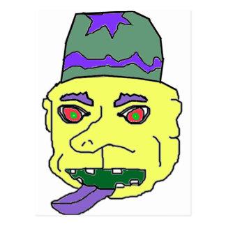 Yellow Gremlin Head Postcards