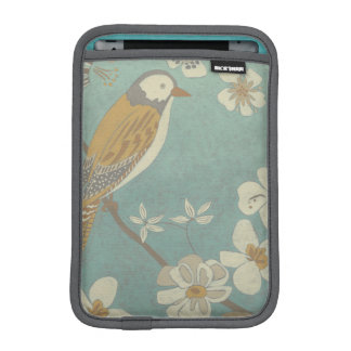 Yellow, Grey and Beige Bird Perched on a Branch iPad Mini Sleeves