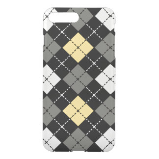 Yellow Grey and White Argyle Pattern iPhone 7 Plus Case