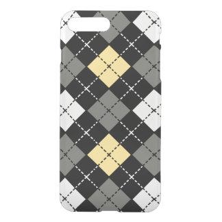 Yellow Grey and White Argyle Pattern iPhone 8 Plus/7 Plus Case