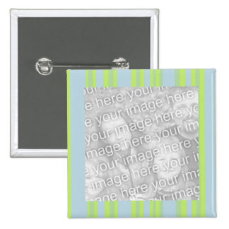 yellow grey blue stripes photo frame buttons