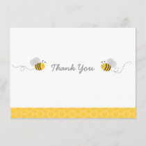 Yellow & Grey Bumble Bee Baby Shower Thank You