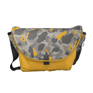 YELLOW GREY CAMOUFLAGE MESSENGER BAG