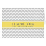 Yellow Grey Chevron Employee Appreciation Card