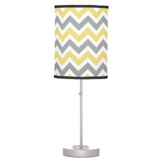 Yellow & Grey Chevron Lamp