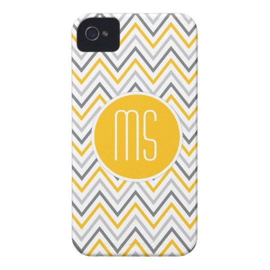 Yellow Grey Chevron Zigzag Blackberry Case