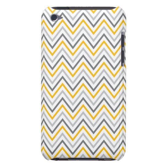 Yellow Grey Chevron Zigzag Pattern Case-Mate iPod Touch Case