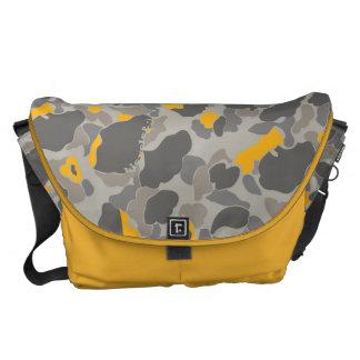 YELLOW-GREY DUCK CAMOUFLAGE MESSENGER BAG
