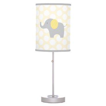 LittlePrintsParties Yellow & Grey Elephant Nursery Lamp