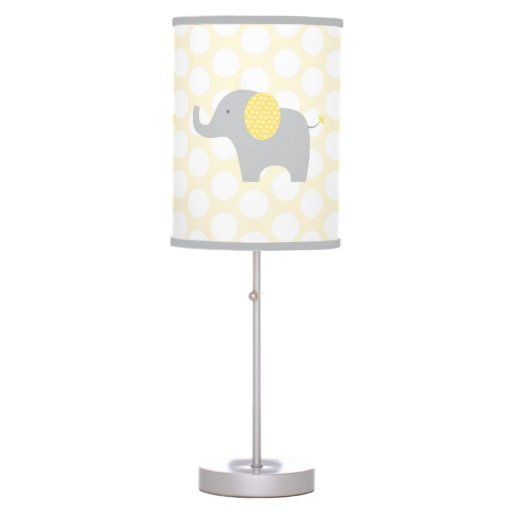 Yellow & Grey Elephant Nursery Lamp