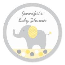 Yellow & Grey Elephant Stickers