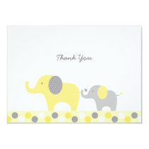 Yellow & Grey Elephant Thank You Cards