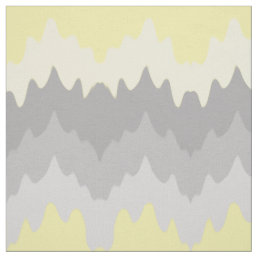 Yellow Grey Gray Ombre Chevron Zigzag Fabric