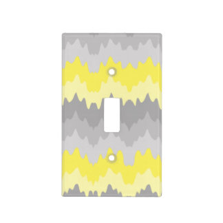 Yellow Grey Gray Ombre Chevron Zigzag Light Switch Cover