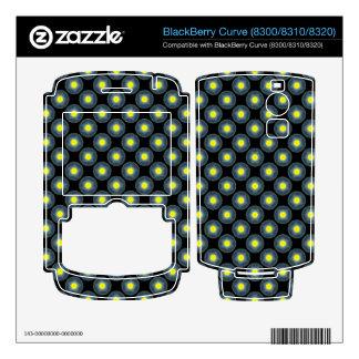 yellow grey modern circle pattern BlackBerry decal