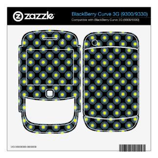 yellow grey modern circle pattern skin for BlackBerry