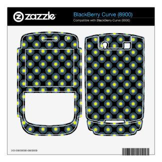 yellow grey modern circle pattern BlackBerry curve skin