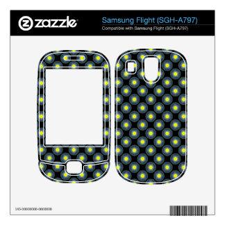 yellow grey modern circle pattern skins for samsung flight