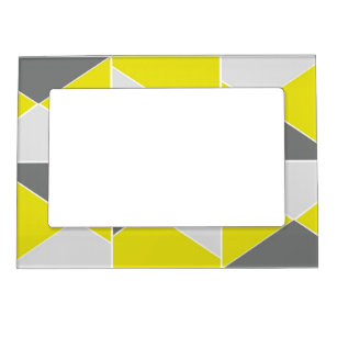 Yellow And Grey Picture Frames Zazzle