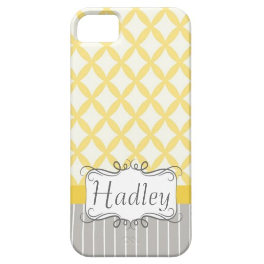 Yellow Grey Personalized Modern Iphone phone case