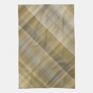 Yellow grey plaid hand towel