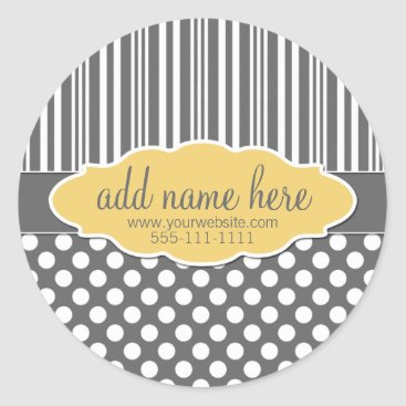 Professional Business Yellow & Grey Product Label
